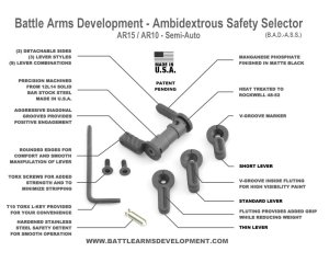 Battle Arms Development Ambidextrous Safety Selector B A