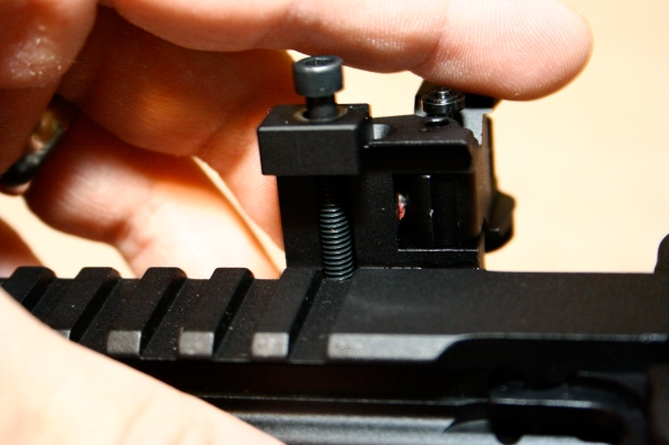 Midwest Industries MCTAR-SPLP Flip Up Rear Sight Locking - Installation 1