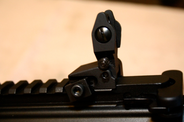 Midwest Industries MCTAR-SPLP Flip Up Rear Sight Locking - Installation 2
