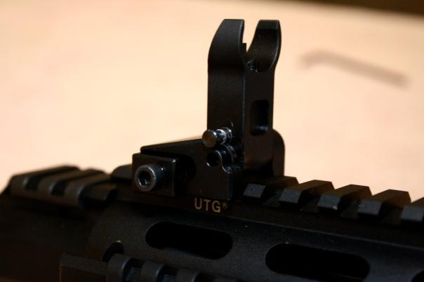 Midwest Industries MI-LFFR Flip Up Front Sight Locking - Installed