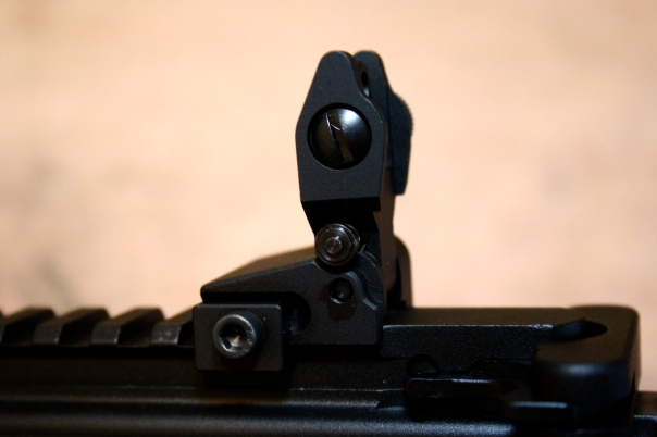 Midwest Industries MCTAR-SPLP Flip Up Rear Sight Locking - Installed