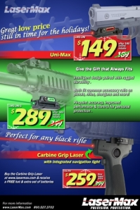 LaserMax Holiday Savings