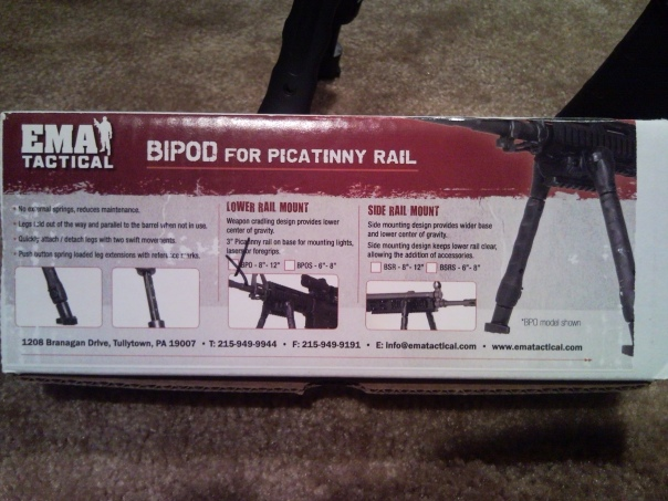 EMA Tactical BPO BIPOD 1